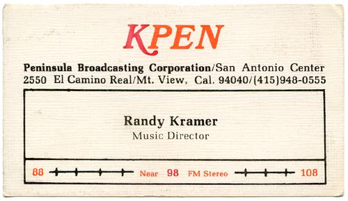 Randy Kramer - KPEN 97.7 FM