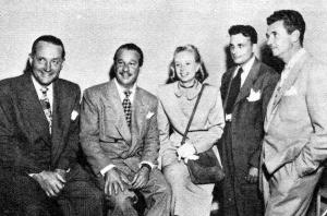 Glenhall Taylor with Lum & Abner staff