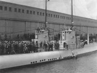 The USS Bass at San Francisco during 1932 Navy Day celebration.