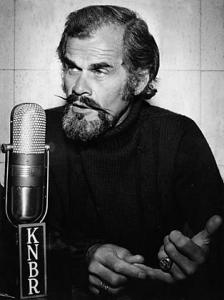 Bill King at KNBR (1976 Photo)