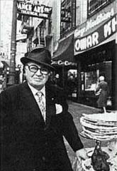 George Mardikian in front of Omar Khayyam's in San Francisco
