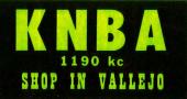 KNBA bumper sticker, circa 1960s (Courtesy of Jay Arnold)