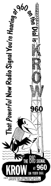 Ad For New KROW Transmitter (Image)