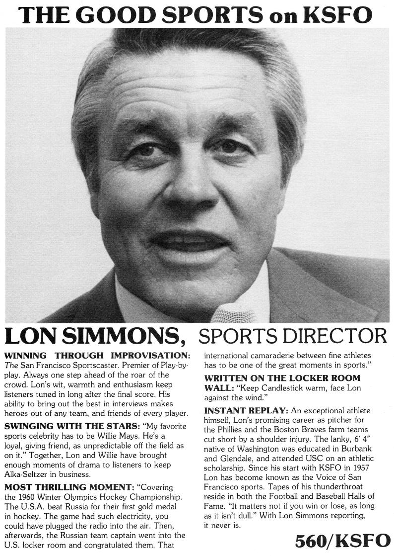 Lon Simmons KSFO Profile (Image)