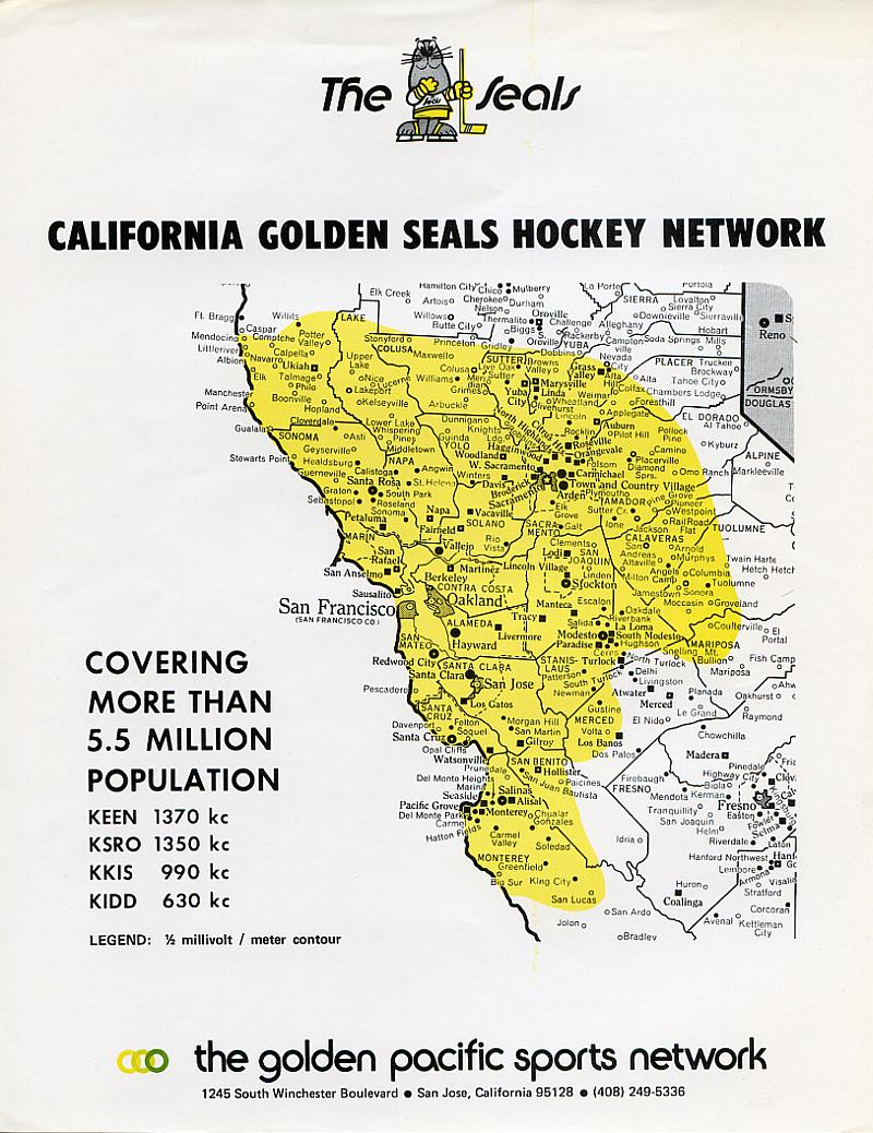 California Seals Radio Coverage Map (Image)