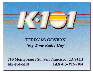 Terry McGovern Business Card (1992)